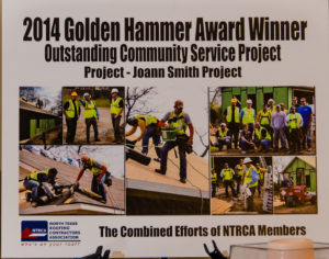 Award-winning community service roofing project NTRCA Springtree Roofing