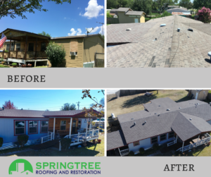 Springtree Roofing and Restoration No Roof Left Behind Community Service Project
