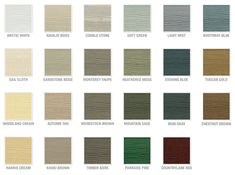 James Hardie color options